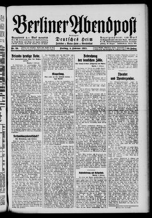 Berliner Abendpost vom 04.02.1921