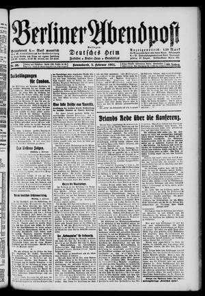 Berliner Abendpost vom 05.02.1921