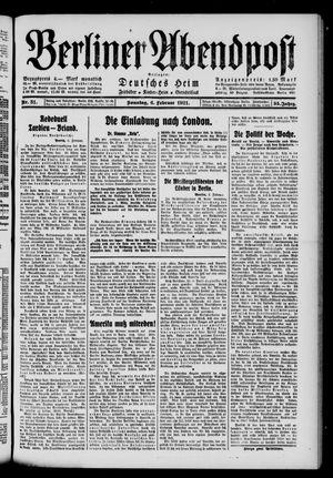 Berliner Abendpost vom 06.02.1921