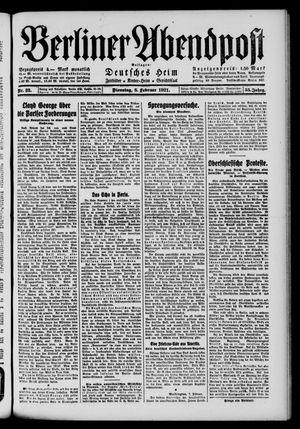 Berliner Abendpost vom 08.02.1921
