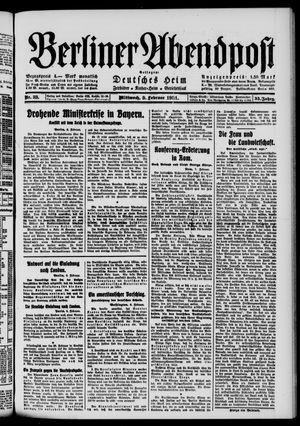 Berliner Abendpost vom 09.02.1921