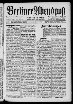 Berliner Abendpost vom 11.02.1921