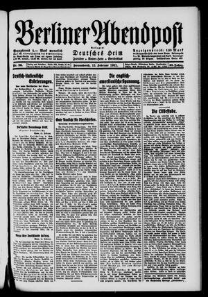 Berliner Abendpost vom 12.02.1921