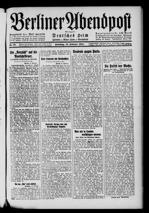 Berliner Abendpost vom 13.02.1921
