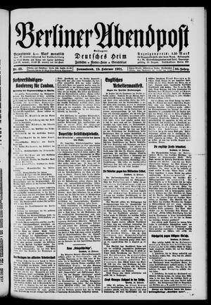 Berliner Abendpost vom 19.02.1921