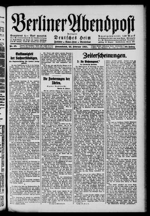 Berliner Abendpost vom 26.02.1921