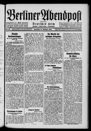 Berliner Abendpost vom 27.02.1921