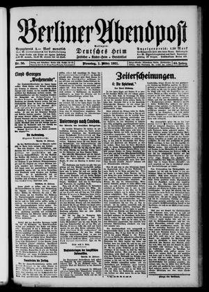 Berliner Abendpost vom 01.03.1921