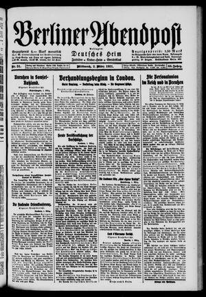 Berliner Abendpost vom 02.03.1921