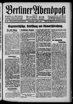 Berliner Abendpost vom 03.03.1921