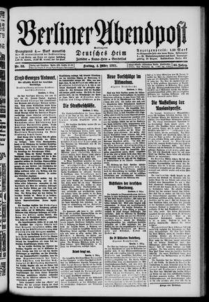 Berliner Abendpost vom 04.03.1921
