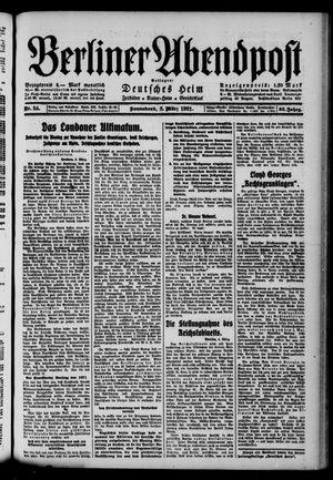 Berliner Abendpost vom 05.03.1921