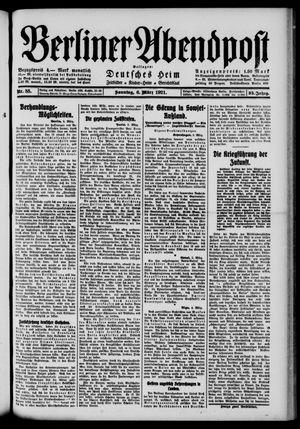 Berliner Abendpost vom 06.03.1921