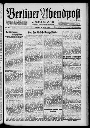 Berliner Abendpost vom 08.03.1921