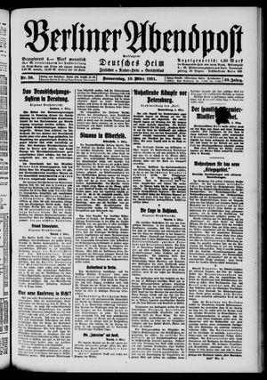 Berliner Abendpost vom 10.03.1921