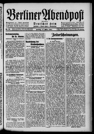 Berliner Abendpost vom 11.03.1921
