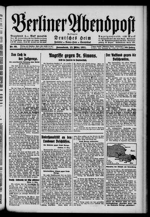 Berliner Abendpost vom 12.03.1921