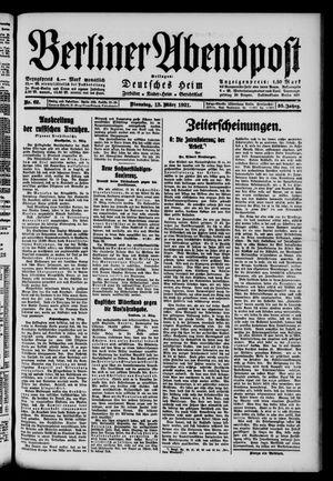 Berliner Abendpost vom 15.03.1921