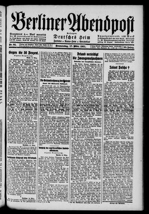 Berliner Abendpost vom 17.03.1921