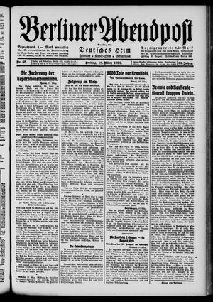 Berliner Abendpost vom 18.03.1921