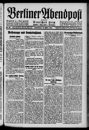Berliner Abendpost vom 19.03.1921
