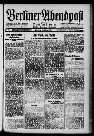 Berliner Abendpost vom 20.03.1921