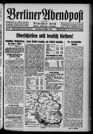 Berliner Abendpost vom 22.03.1921