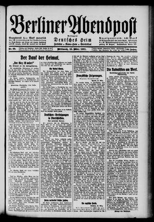 Berliner Abendpost vom 23.03.1921
