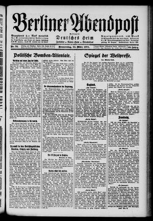 Berliner Abendpost vom 24.03.1921