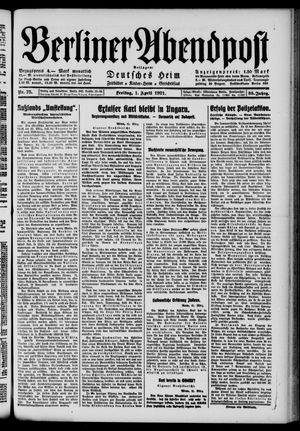 Berliner Abendpost vom 01.04.1921