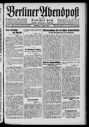 Berliner Abendpost vom 05.04.1921