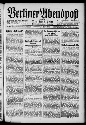Berliner Abendpost vom 07.04.1921