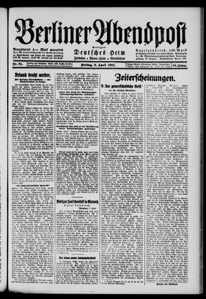 Berliner Abendpost vom 08.04.1921