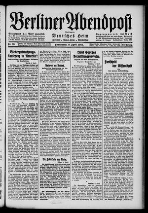 Berliner Abendpost vom 09.04.1921