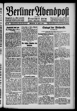 Berliner Abendpost vom 13.04.1921