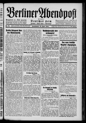 Berliner Abendpost vom 16.04.1921