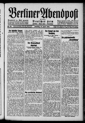 Berliner Abendpost vom 17.04.1921