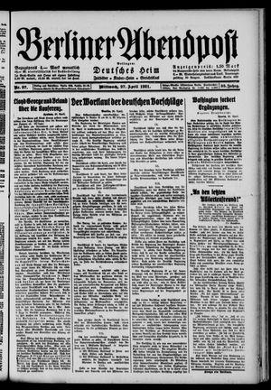 Berliner Abendpost vom 27.04.1921