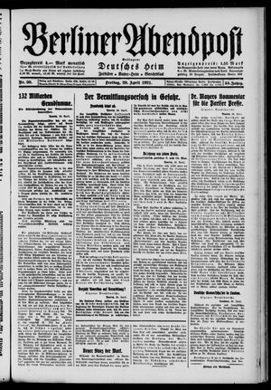 Berliner Abendpost vom 29.04.1921