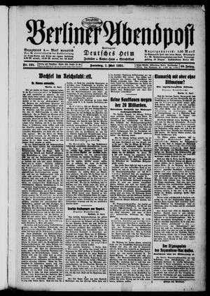 Berliner Abendpost vom 01.05.1921