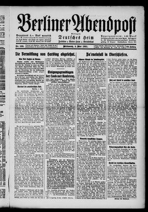 Berliner Abendpost vom 04.05.1921