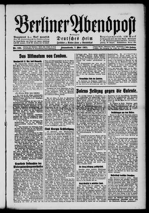 Berliner Abendpost vom 07.05.1921