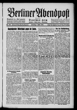 Berliner Abendpost vom 08.05.1921