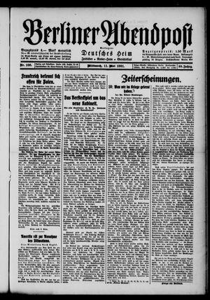 Berliner Abendpost vom 11.05.1921