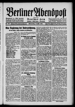 Berliner Abendpost vom 12.05.1921
