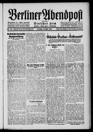 Berliner Abendpost vom 13.05.1921