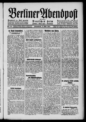 Berliner Abendpost vom 14.05.1921
