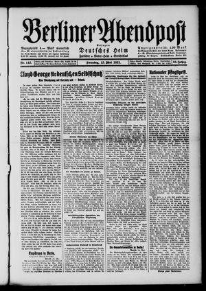 Berliner Abendpost vom 15.05.1921