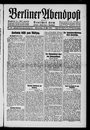 Berliner Abendpost vom 19.05.1921