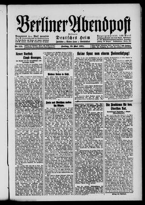 Berliner Abendpost vom 20.05.1921